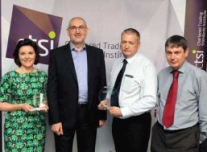 Pictured (left to right): Sharon Penketh, National Trading Standards e-Crime Team; Graham Mogg, Chair of the National Markets Group; Martin Harland and David Hunt of Camden Council Trading Standards.