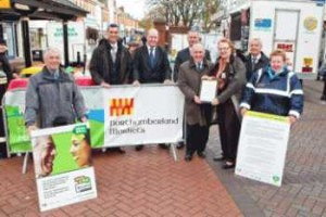Pictured at the launch of the Real Deal in Northumberland are councillors Alan Thompson and Anita Romer (holding framed charter) Keith Gray, David Hunt, Andy Rutherford (head of highways and neighbourhood services), Jimmy Power (business and consumer protection manager), Gerry Dutton and Pat Walsh.