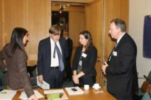 Pictured: John Whittingdale (second left) discusses the problem of fake goods at markets and car boot fairs with Patricia Lennon Real Deal Campaign Coordinator; Suse Winter Director General of the Alliance Against IP Theft and Tony Sproston, Market Division Manager at Manchester City Council.