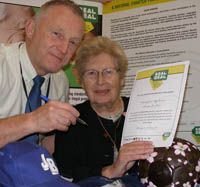 Cllr Barbara Dring and Mick Taylor.