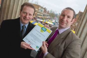 On the left is Cllr Beric Read, Portfolio Holder for Community Engagement and Localism at St Albans City and District Council, on the right is Guy Pratt, Head of Hertfordshire Trading Standards