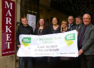 Launch of the Real Deal North Wales initiative at the Butcher's Market in Wrexham on 19 October 2015